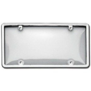 Chrome Plastic Plate Frame w/ Cover - 60310