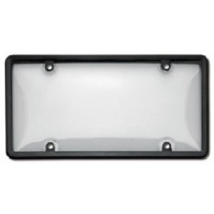 Black Plastic Plate Frame w/ Cover - 60510