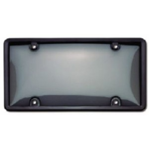 Black Plastic Plate Frame w/ Smoke Tinted Cover - 60520