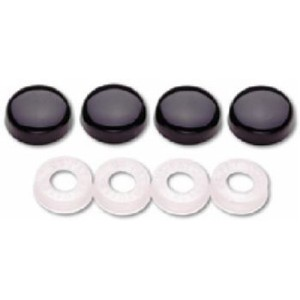 Black Plate/Frame Screw Covers - 82650