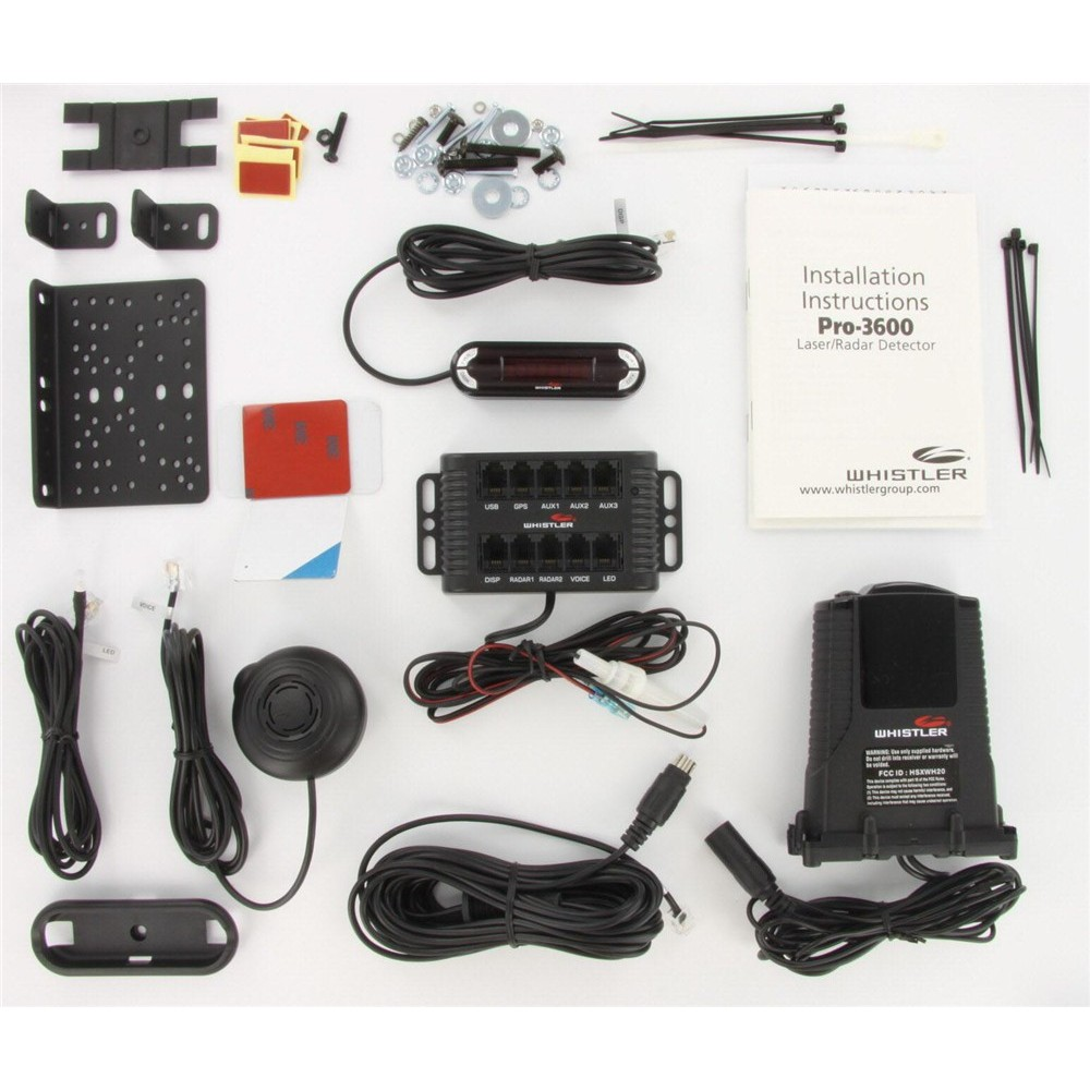 Whistler Pro 3600 Radar Detector Installed Remote Model