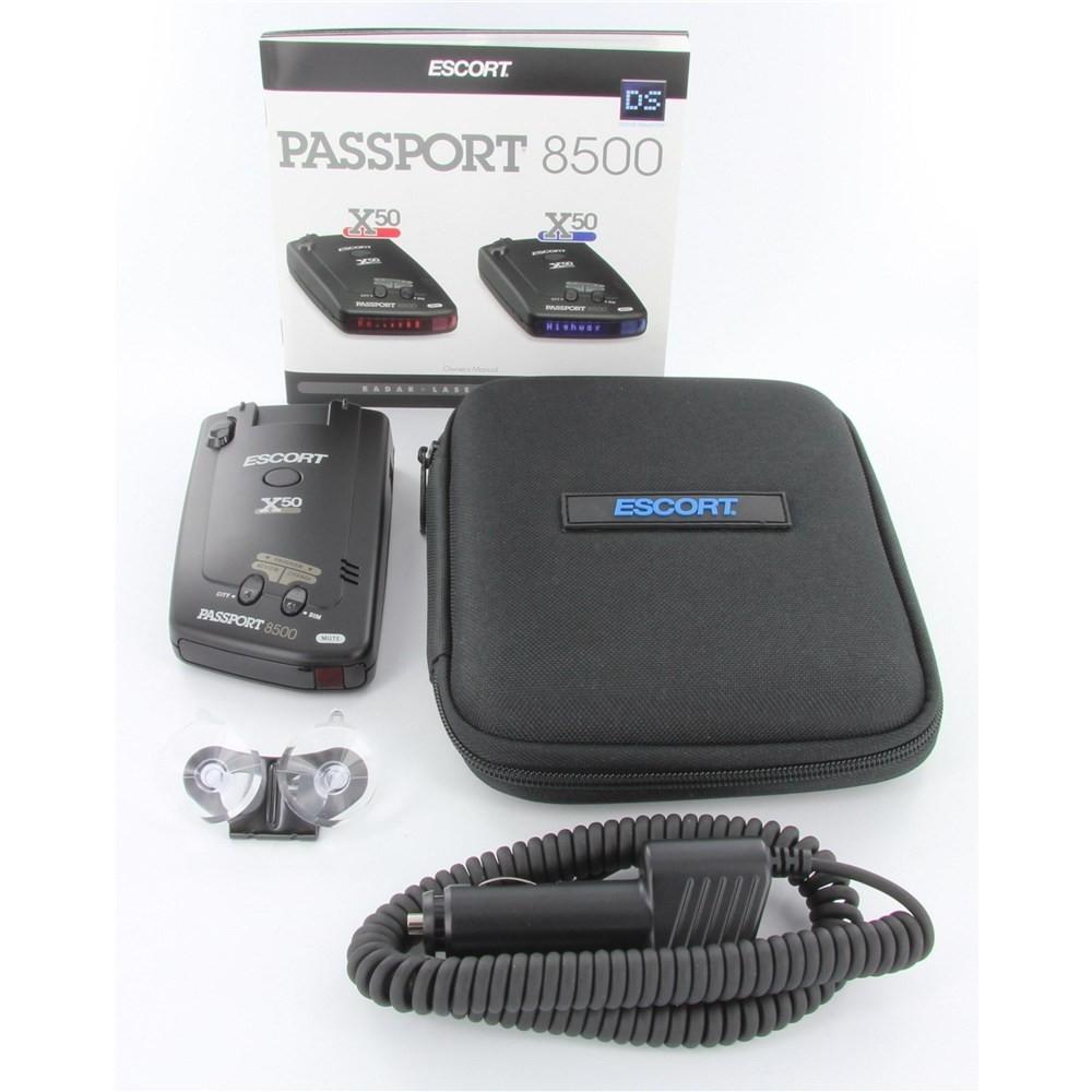 Escort Passport 8500 X50 >> Escort Passport 8500 X50 Black Radar Detector Red Display