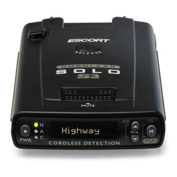 Wireless Radar Detector >> Escort Solo S3 Cordless Radar Laser Detector