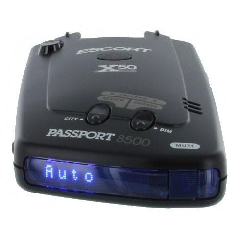 Escort Passport 8500 X50 Black Radar Detector Blue Display
