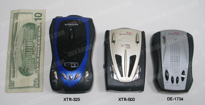 Whistler radar detector size comparison