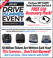 Escort Radar Detector Drive into Summer Event